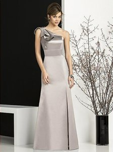 After Six Taupe Matte Satin 6674 Bridesmaid/Mob Dress Size 10 (M)