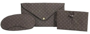 Louis Vuitton Louis Vuitton Monogram Travel Set Eye Mask Neck Pillow Envelope Pouch