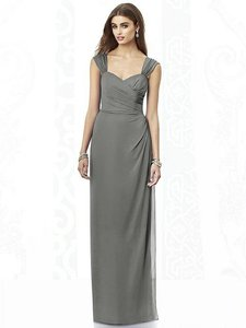 After Six Charcoal Gray 6693 Bridesmaid/Mob Dress Size 10 (M)
