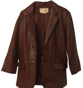 Margaret Godfrey Brown Leather Jacket
