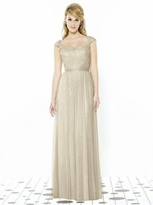 After Six Palomino Soft Tulle 6724 Bridesmaid/Mob Dress Size 12 (L)