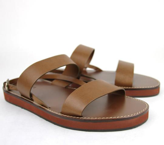 Gucci Brown 2535 Men's Leather Sandal 336453 Size 10 G/Us 10.5 Shoes
