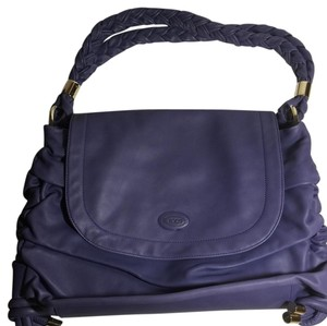 Tod's Purple Messenger Bag