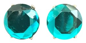 Other Green Gold Jeweled Stud Earrings