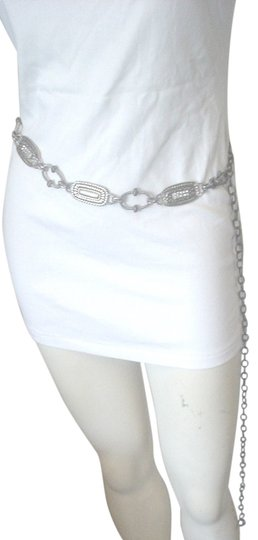 Chico's CHICO'S ADJ BELT CHAIN DESIGN RHINESTONES TOTAL LENGTH 50
