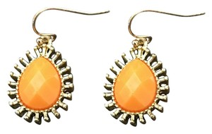 Other Gold Orange Drop Earrings