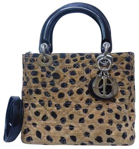 Dior Lady Cannage Print Chanel Quilted Shoulder Bag