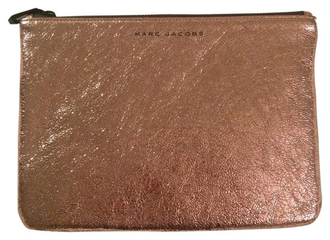 Item - X Target Pouch Rose Gold Leather Clutch