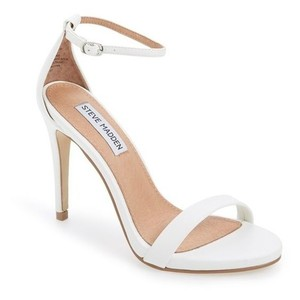 Steve Madden Stecy Stacy White Sandals