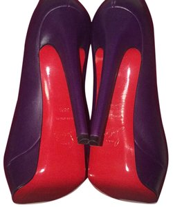 Christian Louboutin Never Worn Unique Color Purple Boots