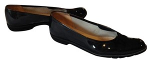 Salvatore Ferragamo Black Patent Leather Flats