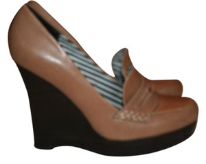 L.A.M.B. Wedge Platform Heel BROWN Wedges