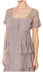 Free People short dress Gray Tiered High Low Raw Edges Square Neck on Tradesy