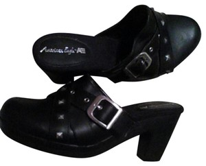 American Eagle Outfitters Studded Black Mules