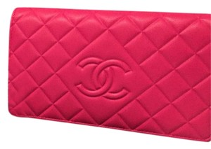Chanel Chanel Bifold Long Leather Wallet