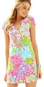 Lilly Pulitzer short dress Lovers Coral Neon Brewster on Tradesy
