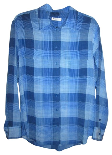 Preload https://img-static.tradesy.com/item/19416740/equipment-blue-new-silk-s-signature-plaid-oversized-shirt-blouse-size-6-s-0-1-650-650.jpg