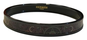 Hermès Rare Multi-colored Black Enamel Hermes Bangle!