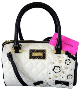 Betsey Johnson Medium Blush Satchel in bone