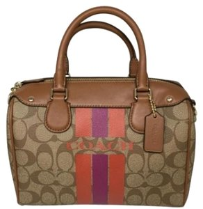 Coach F36401 Mini Bennett Satchel in Brown with watermellow and purple