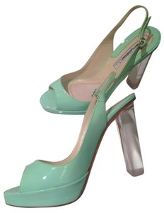Brian Atwood Heel Pump Turquoise Green Pumps