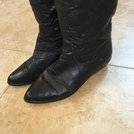 Bootinos Vintage 1980s Slouch Black Boots