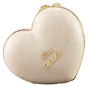 Love Moschino Heart Box Cream Clutch