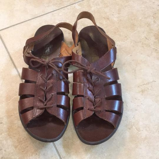 Leather Collection Brown Sandals