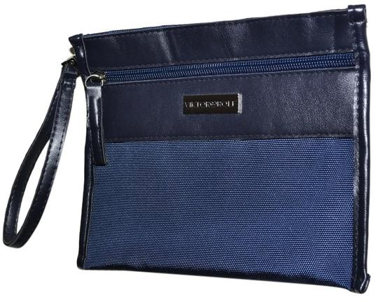 Preload https://item5.tradesy.com/images/viktor-and-rolf-navy-blue-multi-purpose-zippered-nylon-travel-pouch-wristlet-clutch-cosmetic-bag-1941694-0-0.jpg?width=440&height=440