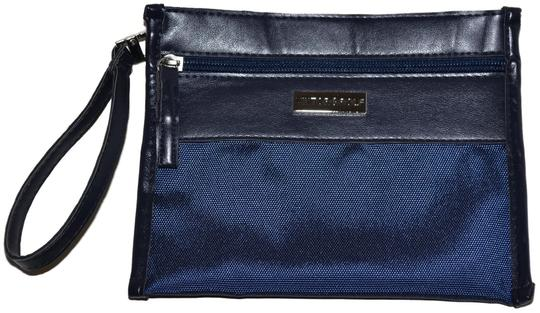 VIKTOR & ROLF VIKTOR & ROLF Multi Purpose Zippered Nylon Travel Accessories Pouch Wristlet Clutch Navy blue