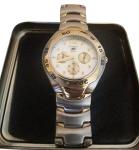 Fossil FOSSIL Unisex Silver / Gold Metal Wrist Watch
