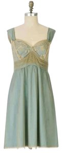 Anthropologie Left Of Center Mesh Layered Brocade Sheer Dress