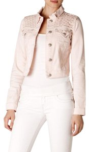 Miss Me Studded Bubble Gum Pink Womens Jean Jacket