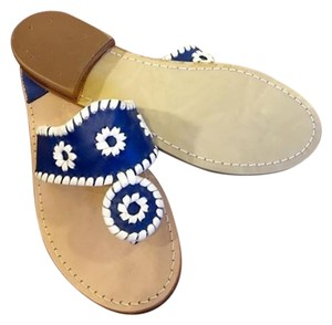 Jack Rogers Navy & white Sandals
