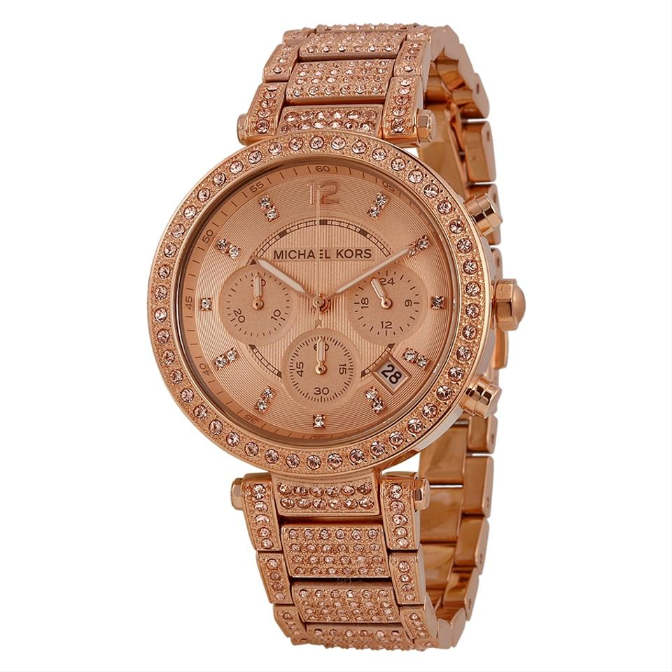 470468a7c020 Michael Kors (RoseGold) uptown Glam Parker Chronograph Ladies Watch  350  Image 0 ...