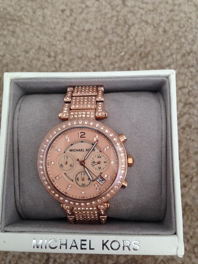Michael Kors (RoseGold) uptown Glam Parker Chronograph Ladies Watch $350