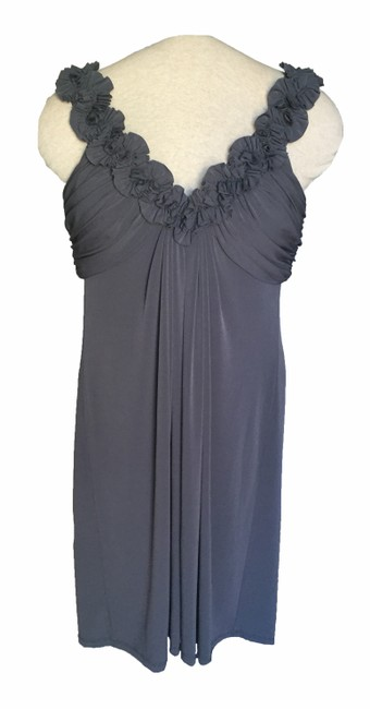 Preload https://img-static.tradesy.com/item/19417495/maggy-london-steel-gray-ruffled-empire-waist-above-knee-cocktail-dress-size-12-l-0-0-650-650.jpg