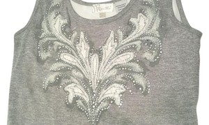 Miss Me Studded Top Gray