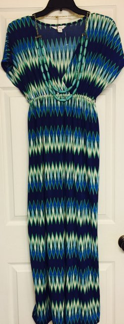 Blue & Green Maxi Dress by The Love