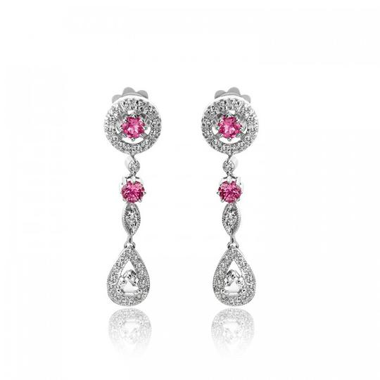 Preload https://img-static.tradesy.com/item/19417598/avital-and-co-jewelry-14k-white-gold-130-ct-diamond-pink-tourmaline-antique-style-drop-wg-earrings-0-1-540-540.jpg