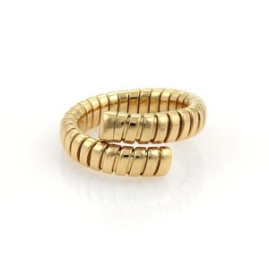 BVLGARI Bulgari Bvlgari Tubogas 18k Yellow Gold Single Flex Band Ring 8-9