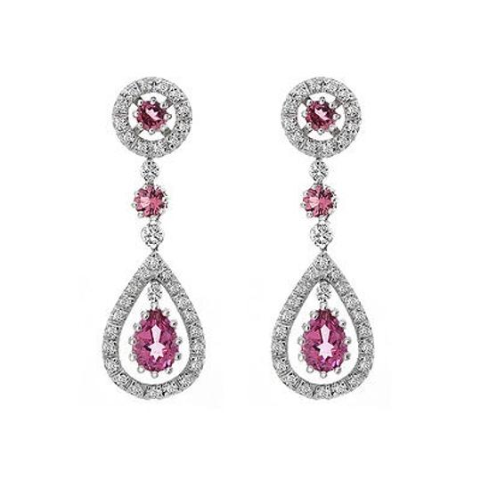 Preload https://img-static.tradesy.com/item/19417612/avital-and-co-jewelry-14k-white-gold-287-carat-pink-tourmaline-diamond-dangle-earrings-0-0-540-540.jpg