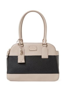 Kate Spade New York Kendall Court Elissa Satchel in Almond / Black