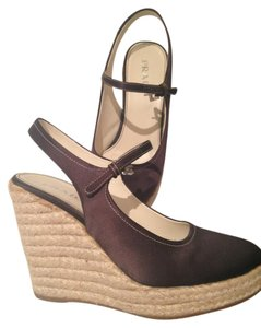 Prada Wedge Brown Wedges