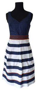 Anthropologie short dress Blue Beaded on Tradesy