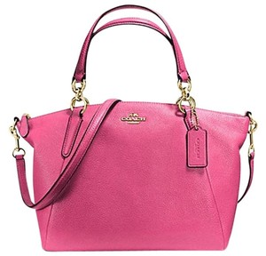 Coach Kelesy Madison 34493m F34493 Satchel in Dahlia Pink with Gold Tone Hardware