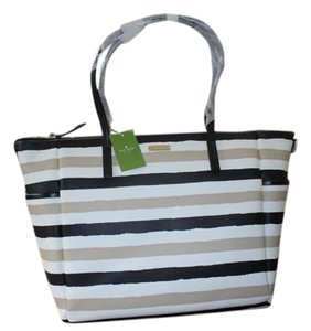 Kate Spade Multifunction Black Cream Diaper Bag