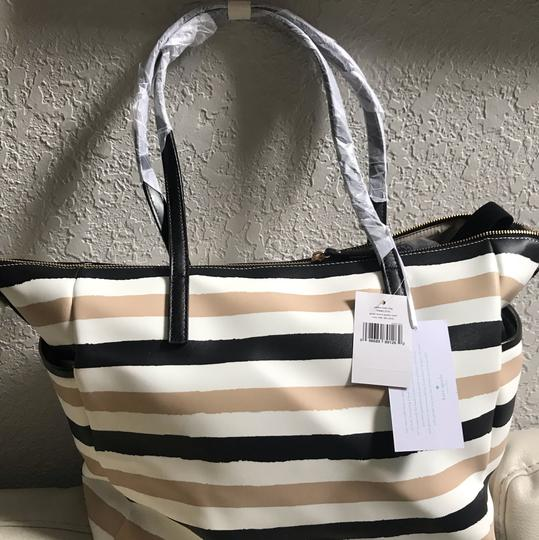 Kate Spade Multifunction Tote Changing Pad Black Cream Diaper Bag