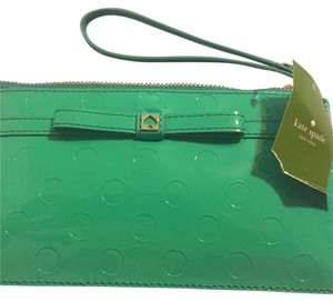 Kate Spade Jemima Camelia Street Chilired Mint Green Wristlet Clutch