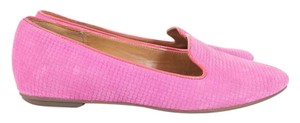 Clarks Pink Suede Loafer Flats